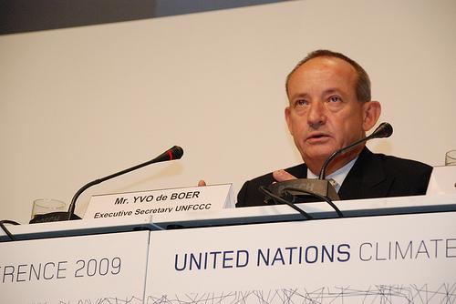 Yvo de Boer of the UNFCCC