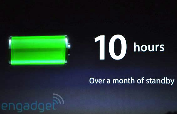 iPad battery info