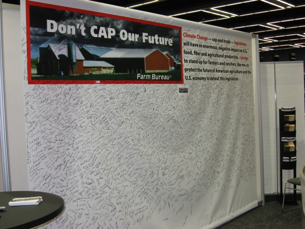 Don't CAP Our Future booth.