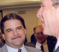 Richard Pombo and George W. Bush