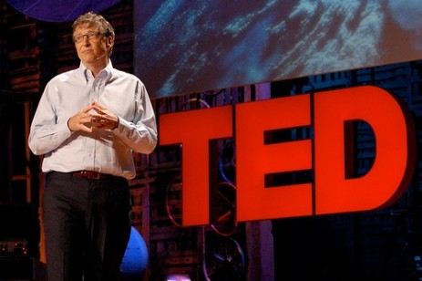 Bill Gates at TED conference