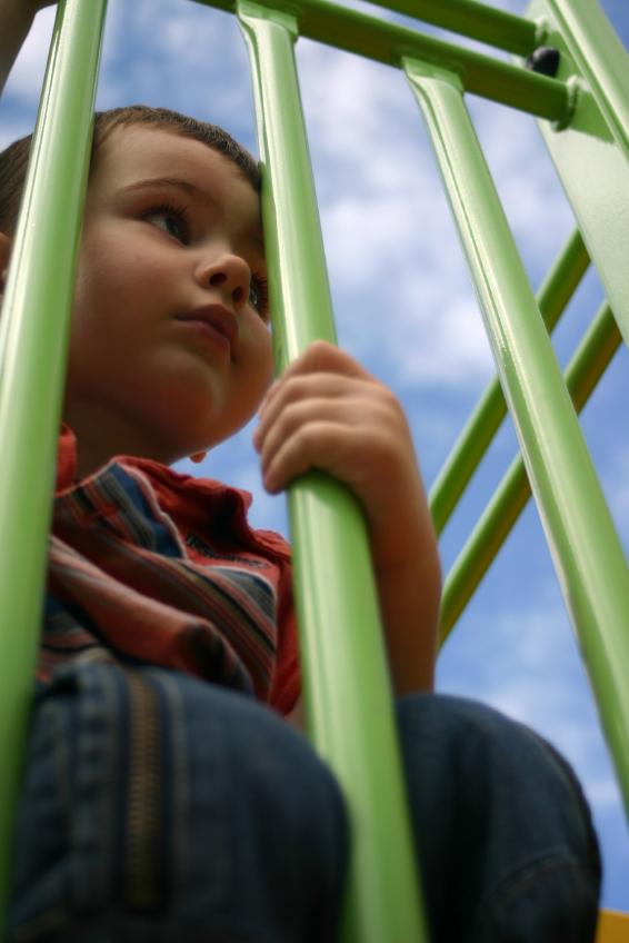 boy gazing