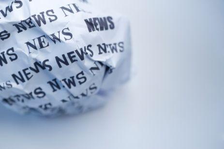 Crumpled news.
