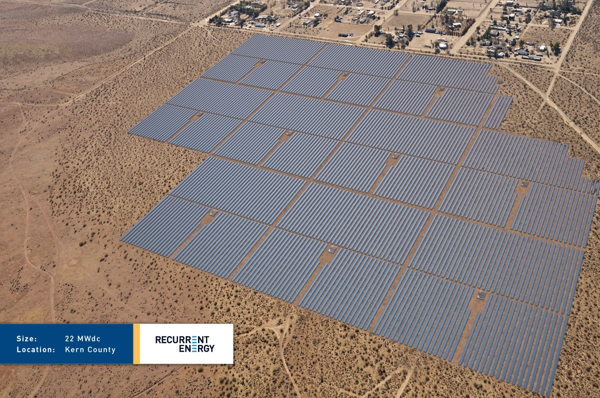 Recurrent Energy's 22MW Kern County project