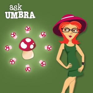 Umbra on mushrooms