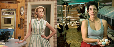 Betty Draper from Mad Men and farmer Alexis Koefoed