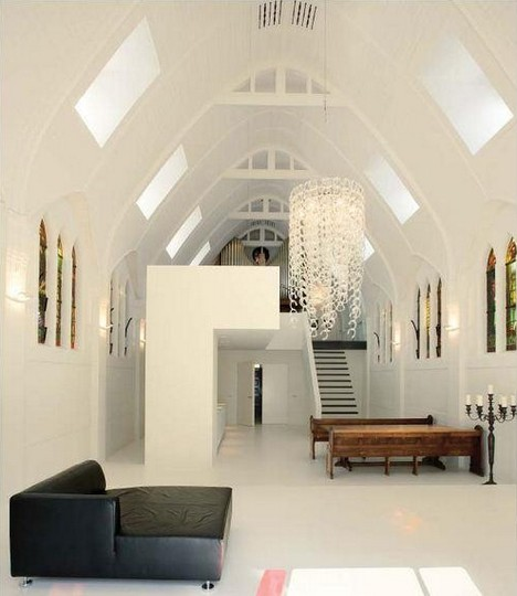 A chapel converted to residence by ZECC Architects.