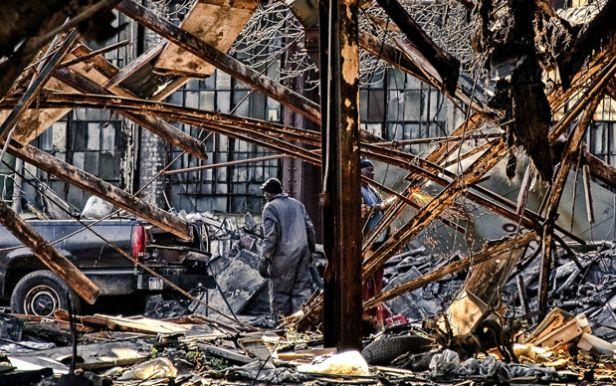 Destruction in Detroit.