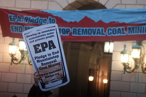 Protest outside EPA.