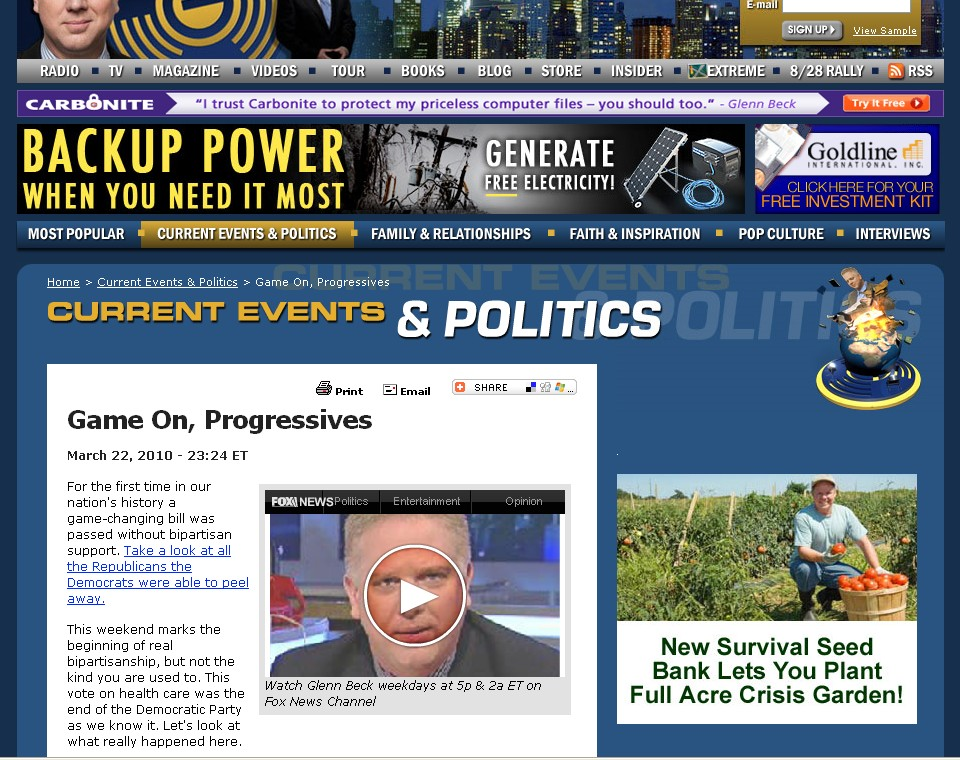 Glenn Beck website screenshot