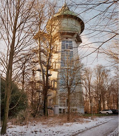 Water tower apartment in Essen, Germany.