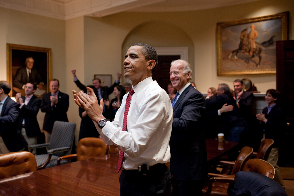 Obama reacts to health care vote