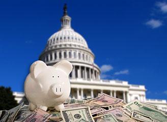 Piggy bank in Washington