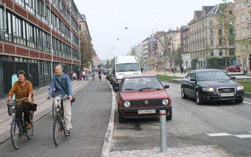 A shielded bikeway.