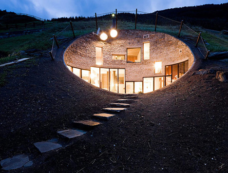 Underground house by SeArch and Christian Müller Architects.