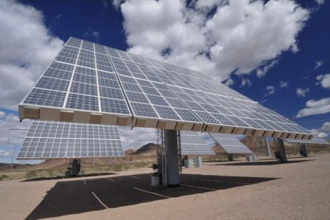 Amonix solar panel.