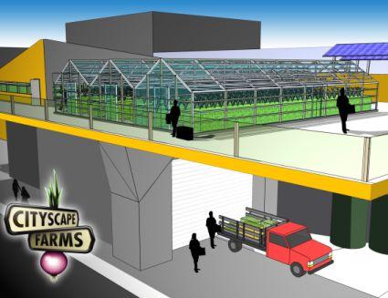 Cityscape farm prototype.