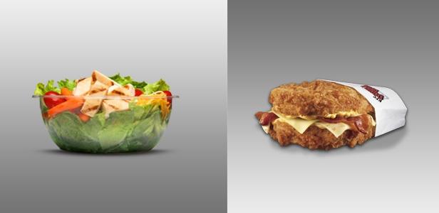Double Down vs. salad