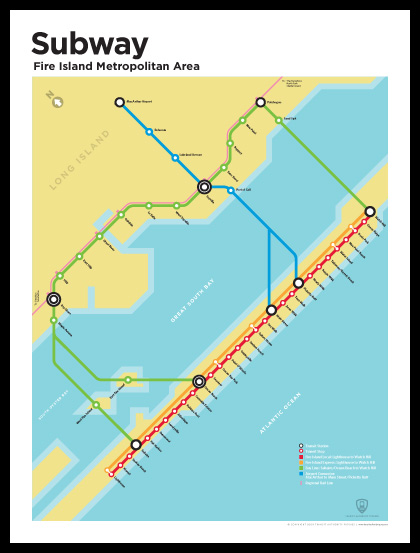 Transit Authority Figures' fake Fire Island subway route