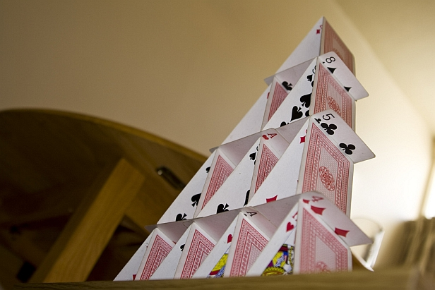 House of cards.