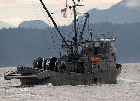 A commerical trawler.