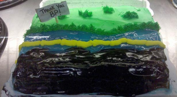 BP oil spill cake