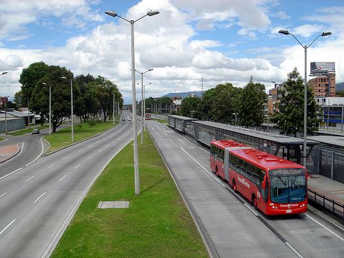 Bus in Bogotá.