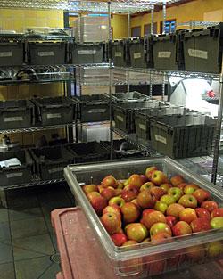 Apples in the walk-in