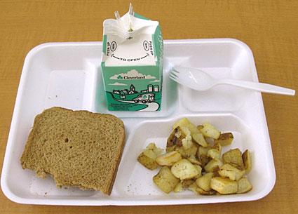 DC school breakfast tray