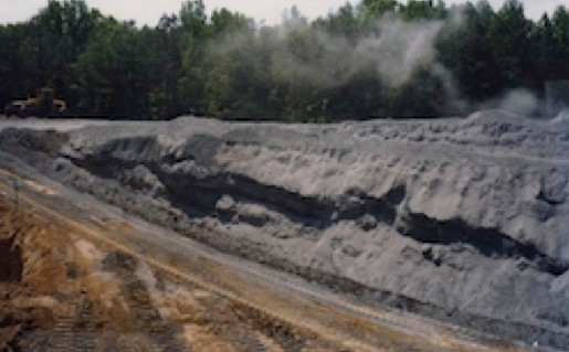 coal ash fill
