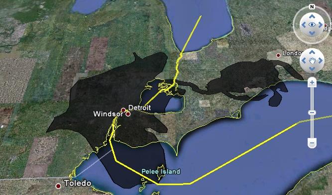 Deepwater oil spill in Detroit