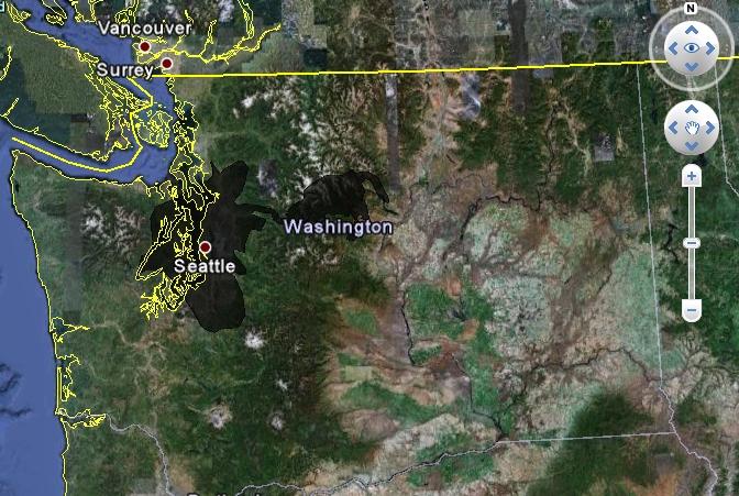 Deepwater oil spill in Seattle