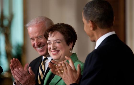 Elena Kagan with Biden and Obama