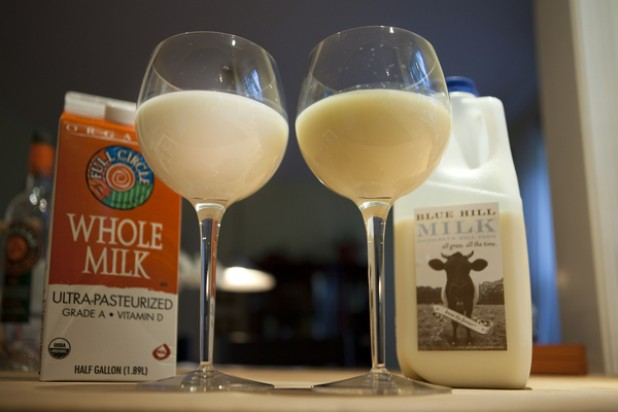 Ultra-pasteurized versus raw milk
