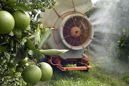 Pesticide being sprayed.