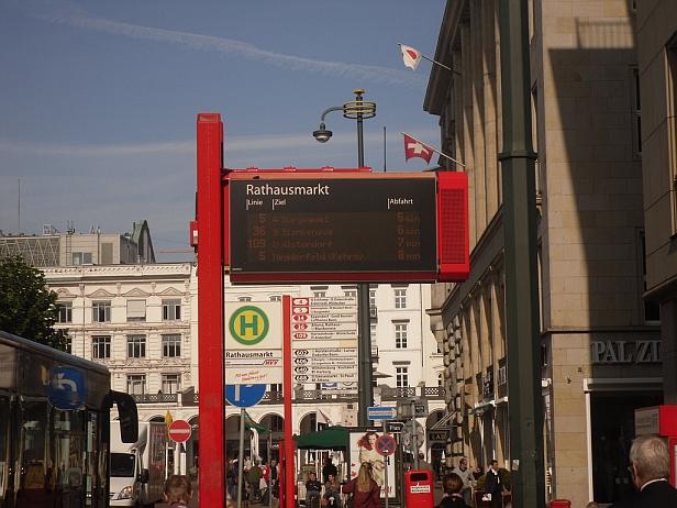Hamburg bus sign