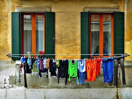 Clothesline outside window