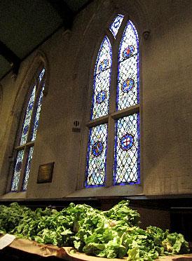 Lettuce in a church