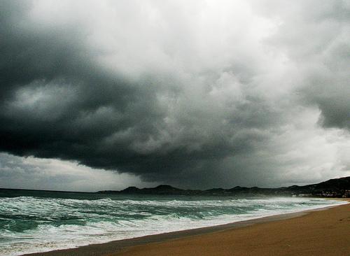Hurricane weather.