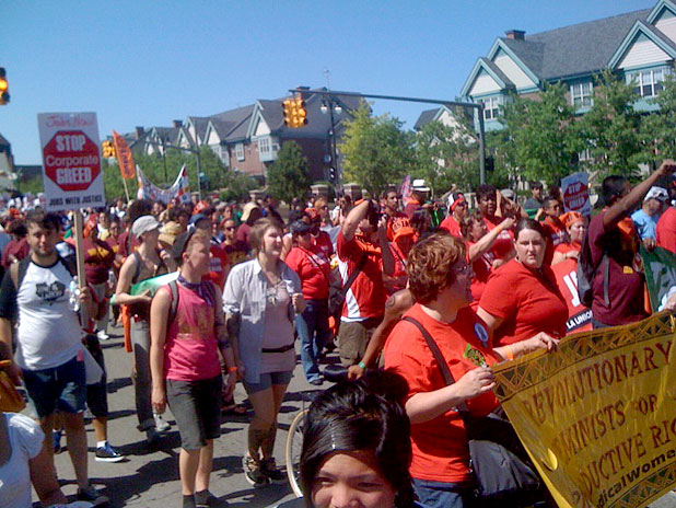 Crowds in detroit