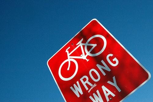 """""""wrong way"""" sign"""
