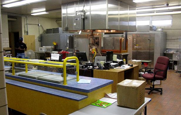 Cafeteria kitchen