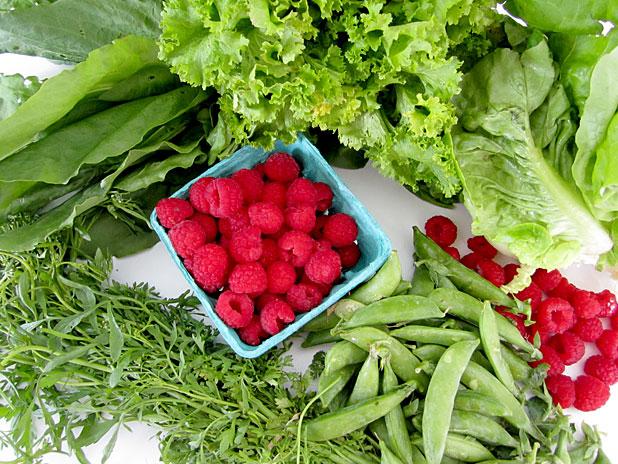 Box of veggies