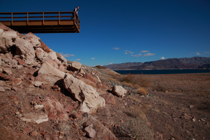 Dock over dry Lake Mead