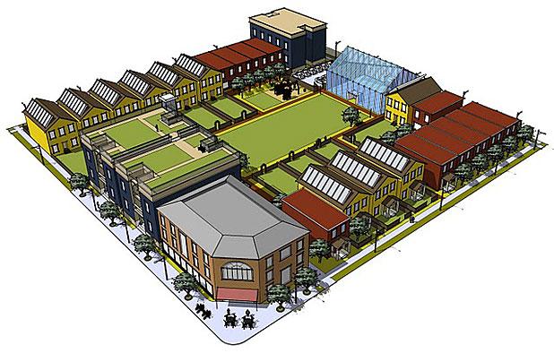 Garden block rendering