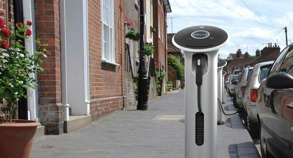 GE electric car charging station