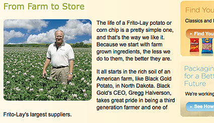 Potato farmer on website