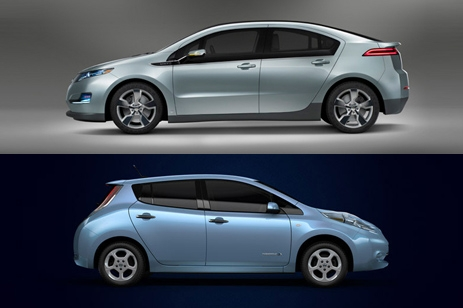 Nissan Leaf/Chevy Volt car comparison