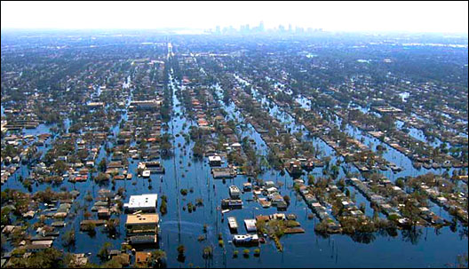 New Orleans after Hurricane Katrina.
