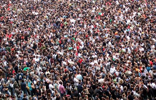 A huge crowd.